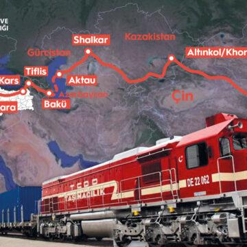 Kütahya'dan Çin'e bor taşıyan tren yola çıktı