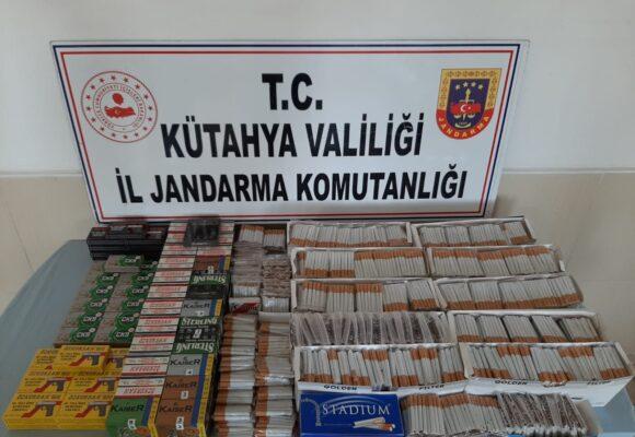 Jandarmadan kaçak silah ve sigara operasyonu
