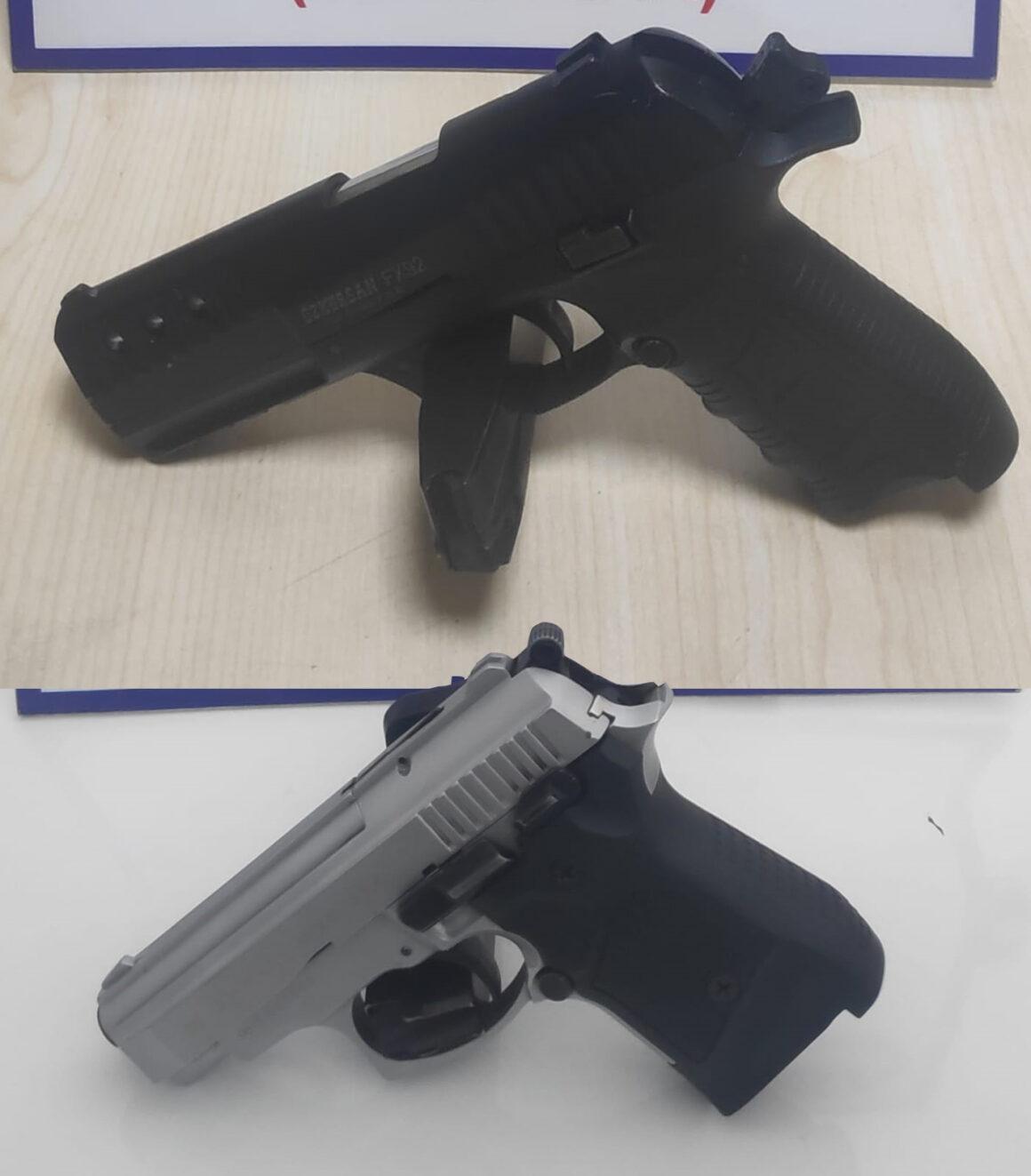 İki adet kurusıkı tabanca ele geçirildi