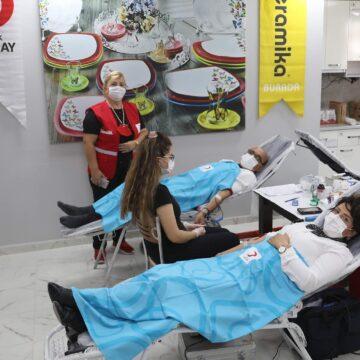 Keramika'dan kan bağışına destek